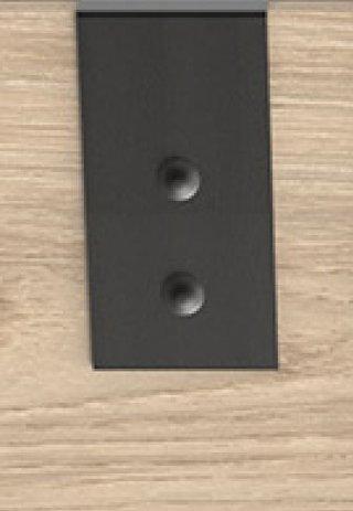Armoire coulissante VERNON style industriel 2 portes pin vieilli 1 porte miroir