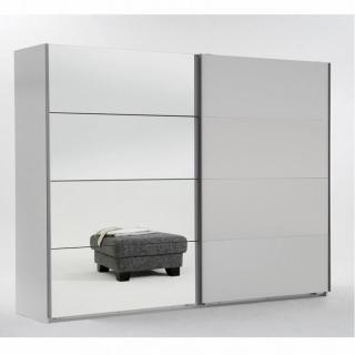 Armoire 2 portes blanc/miroir