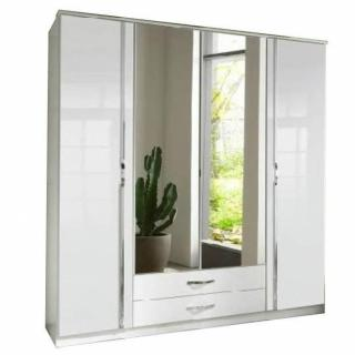 4 portes 2 miroirs 2 tiroirs