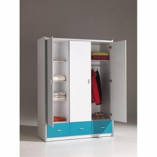 dressings et armoires meubles et rangements armoire dressing kyle 3 portes blanche et 3. Black Bedroom Furniture Sets. Home Design Ideas