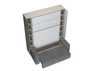 FALCON SOFA armoire lit escamotable avec canapé et rangements intégré couchage 140 x 200 cm