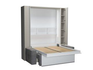 FALCON SOFA armoire lit escamotable avec canapé et rangements intégré couchage 160 x 200 cm