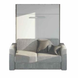 Armoire lit à ouverture assistée TRACCIA canapé intégré accoudoirs larges couchage 140 x 200 cm