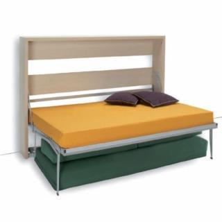 Armoire lit transversale MAGIC canapé intégré couchage 140 * 200 cm