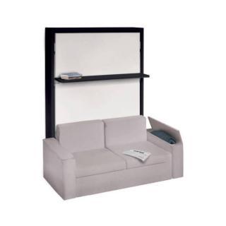Armoire lit verticale LUXURY canapé intégré accoudoirs larges 140 * 200 cm