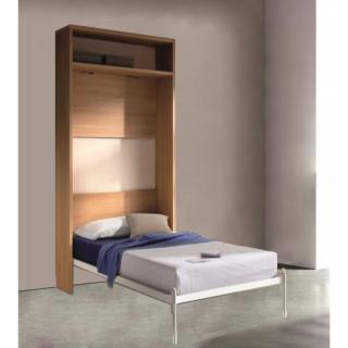 Armoire lit escamotable ATLAS avec étagère Couchage 90/190cm