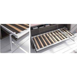 Armoire lit escamotable PRIMO avec bureau intégré Couchage 160x200cm Profondeur 37cm
