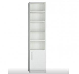 Composition armoire lit escamotable angle LUTECIA blanc mat 350 x 100 cm couchage 140*190 cm