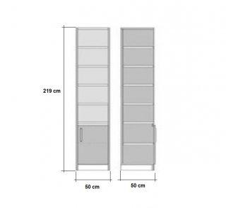 Lit escamotable LUTECIA blanc mat Couchage 140 x 190 cm colonne blanche