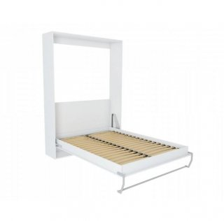 Composition armoire lit escamotable SMART-V2 blanc mat Couchage 140 x 200 cm