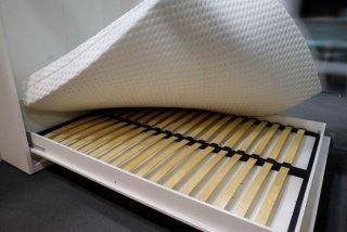 Composition armoire lit escamotable SMART-V2 chêne naturel Couchage 140 x 200 cm