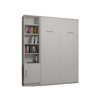 Composition armoire lit escamotable SMART-V2 blanc mat Couchage 160 x 200 cm