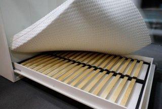 Composition armoire lit escamotable SMART-V2 gris mat Couchage 160 x 200 cm colonne armoire