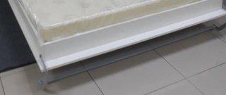 Composition armoire lit escamotable SMART-V2 blanc mat Couchage 160 x 200 cm colonne armoire