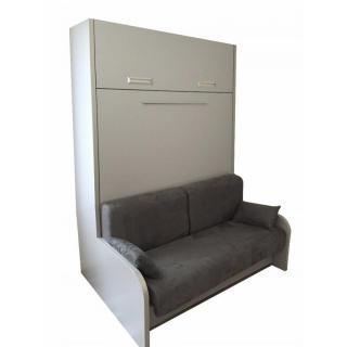Armoire lit escamotable LIBERTY 160cm canapé intégré