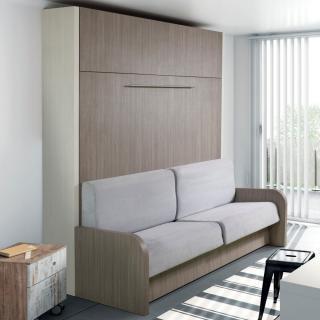 SPACE SOFA armoire lit escamotable 120cm canapé intégré