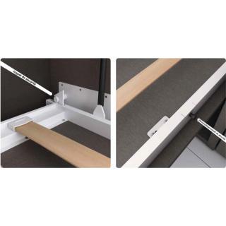 Armoire lit transversale STELLA avec étagères Couchage 90/190cm profondeur 56cm hauteur 218cm