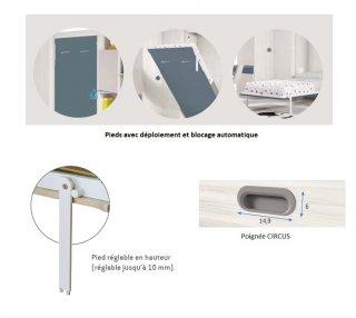 Armoire lit verticale AGATA couchage 160*200cm