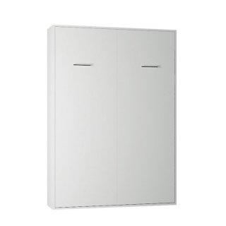 Armoire lit escamotable AVERO blanc mat couchage 140*200 cm profondeur 42cm