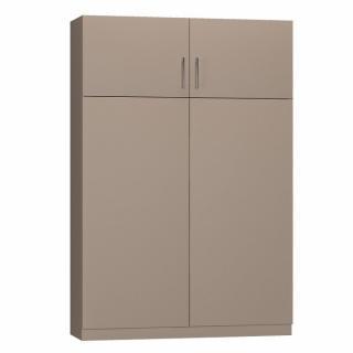 Lit escamotable LUTECIA Couchage 140 x 190 cm profondeur 47 cm coloris taupe mat