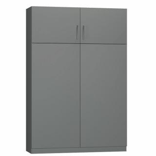 Lit escamotable LUTECIA Couchage 140cm gris graphite mat