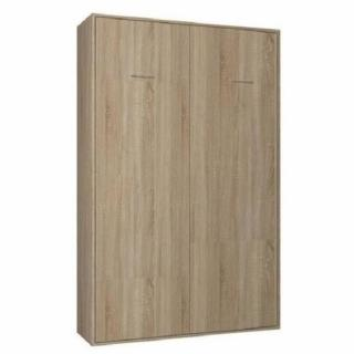 Armoire lit escamotable SMART-V2 chêne naturel couchage 120*200 cm.
