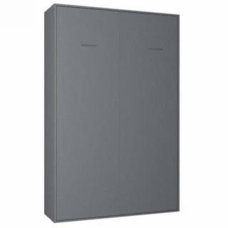 Armoire lit escamotable SMART-V2 gris graphite mat couchage 120*200 cm.