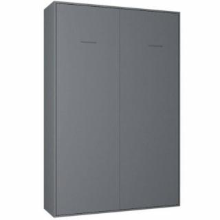 Armoire lit escamotable SMART-V2 gris graphite mat couchage 140*200 cm.