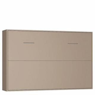 Armoire lit horizontale escamotable STRADA taupe mat couchage 140 * 200cm