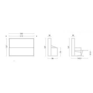 armoire lit escamotables au meilleur prix armoire lit transversale bdesk couchage 140 200 cm. Black Bedroom Furniture Sets. Home Design Ideas
