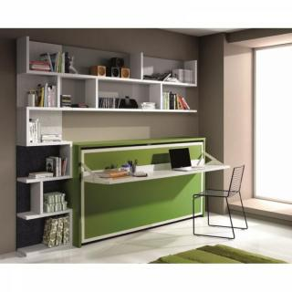 armoire lit escamotable combin bureau au meilleur prix inside75. Black Bedroom Furniture Sets. Home Design Ideas