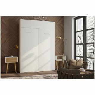 Armoire lit escamotable DYNAMO blanc mat couchage 120*200 cm