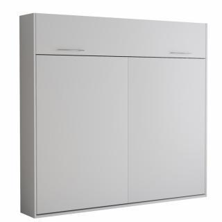 Armoire lit escamotable VERTIGO blanc mat couchage 160*200 cm