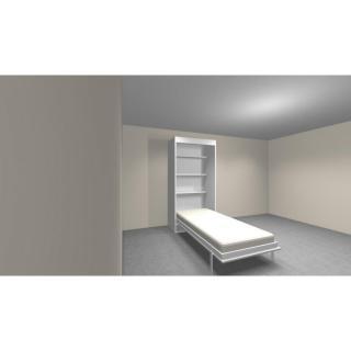 Armoire lit verticale AGATA  couchage 90*190cm profondeur 56 cm étagères intégrées