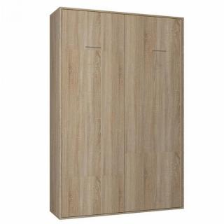 Armoire lit escamotable SMART-V2 chêne naturel couchage 140*200 cm.
