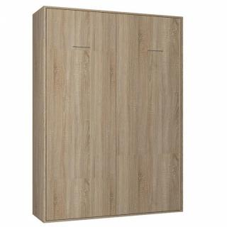 Armoire lit escamotable SMART-V2 chêne naturel couchage 160*200 cm.