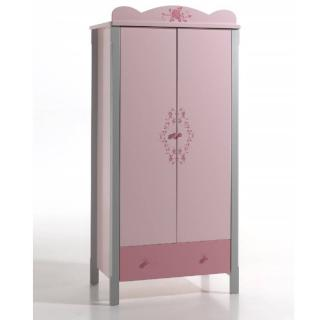 Armoire LYLI rose/grise