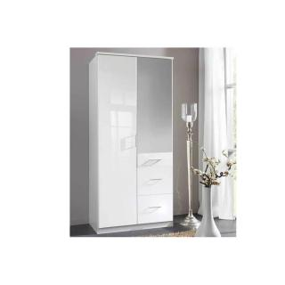 dressings et armoires meubles et rangements armoire penderie cooper blanche avec miroir 2. Black Bedroom Furniture Sets. Home Design Ideas