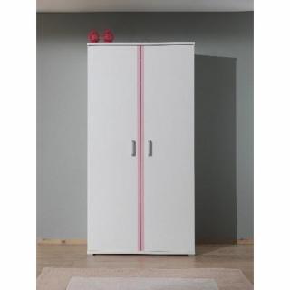 Dressings et armoires meubles et rangements armoire penderie orion 2 portes blanche inside75 - Armoire 2 portes penderie ...