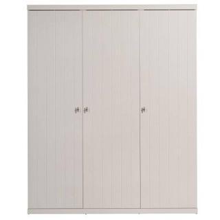 Armoire penderie HYDRUS 3 portes blanche