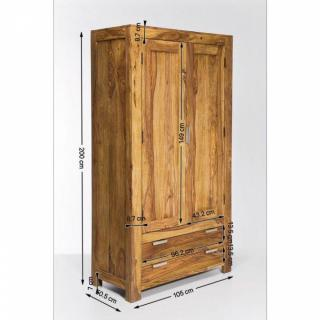 dressings et armoires meubles et rangements armoire penderie wood en bois de sheesham massif. Black Bedroom Furniture Sets. Home Design Ideas