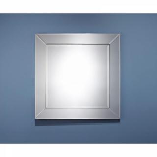 AVATAR Miroir mural carré en verre biseauté