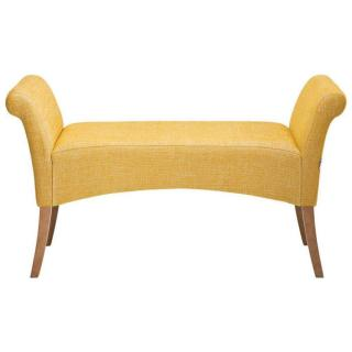 Banc design HONEY jaune moutarde