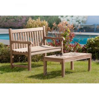 bancs de jardin au meilleur prix java banc de jardin 2 3 places en teck inside75. Black Bedroom Furniture Sets. Home Design Ideas