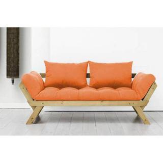 Banquette méridienne pin massif miel matelas futon BEBOP couchage 75*200cm