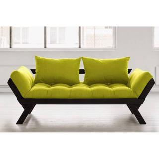 Banquette méridienne noire matelas futon BEBOP couchage 75*200cm