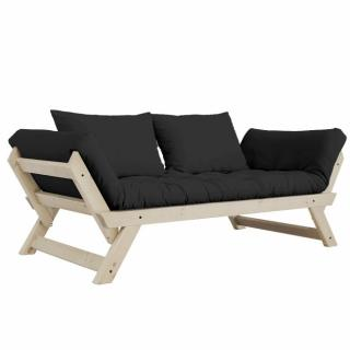 Banquette méridienne style scandinave futon grey graphite BEBOP couchage 75*200cm