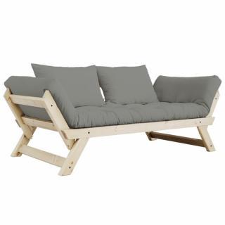 Banquette méridienne style scandinave futon gris BEBOP couchage 75*200cm