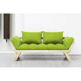 Banquette méridienne style scandinave futon lime BEBOP couchage 75*200cm