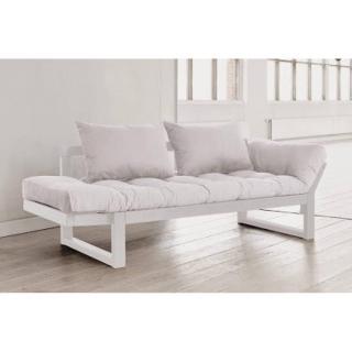 Banquette méridienne blanche futon écru EDGE couchage 75*200cm